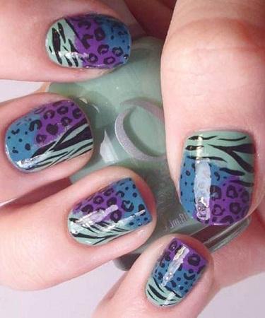 Leopard Nail art3