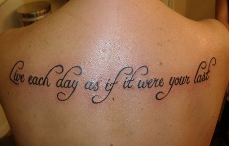 Inspiration Quotation Tattoos
