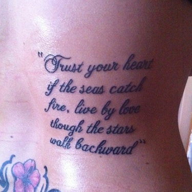 23 Best Tattoo Quotes With Images Styles At Life