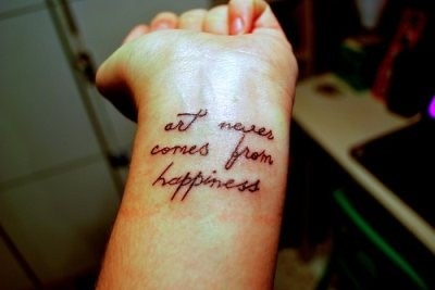 Happiness Quotes Tattoo