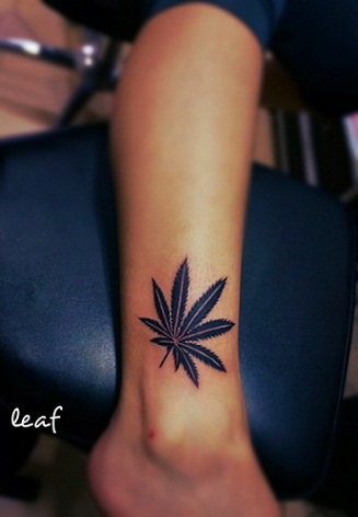 7 best weed tattoo designs with images styles at life for Weed tattoo images