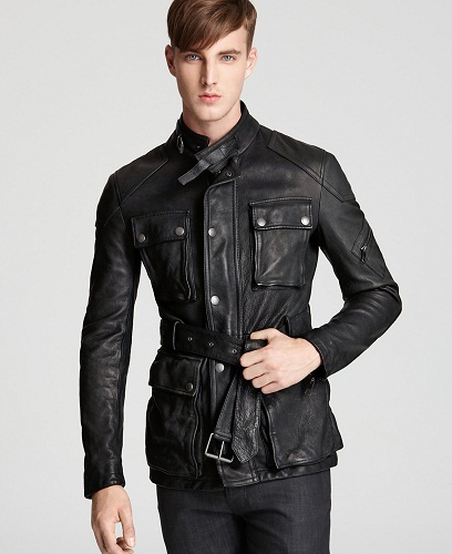 Burberry Brit Doherty Belted Leather Jacket