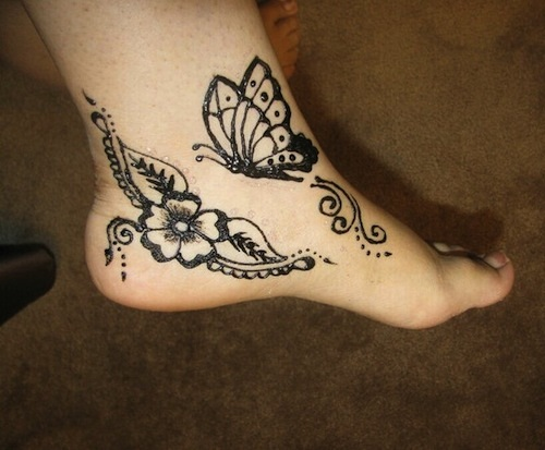 Mehndi Leg Tattoos : 9 ultimate butterfly mehndi designs with images styles at life
