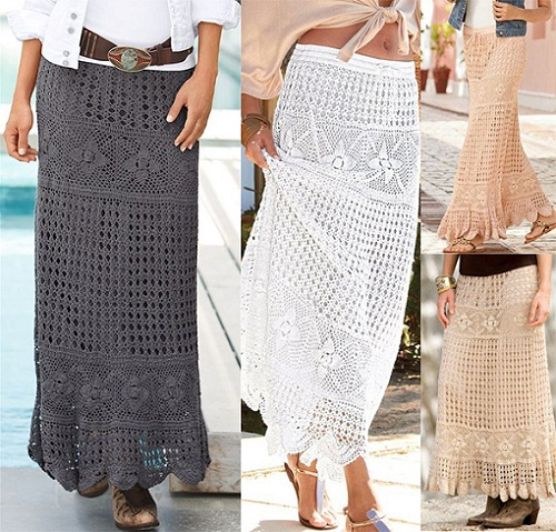 Crochet Long Skirts