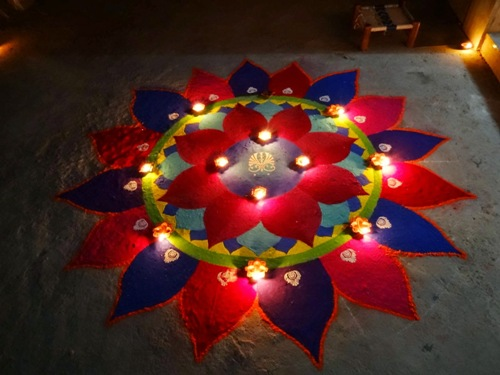 Diwali Rangoli Design - Festival Rangoli Designs