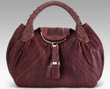 Fendi leather spy bag