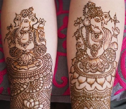 Ganesha Design For Hand