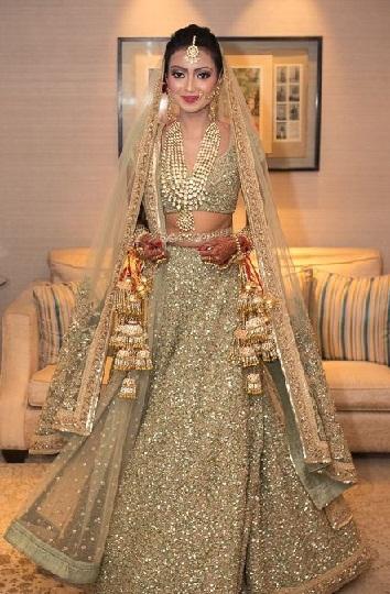 Golden Colour as a Dress for Mehendi