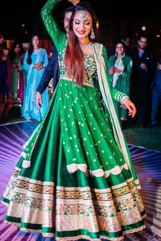 Green Colour Dress