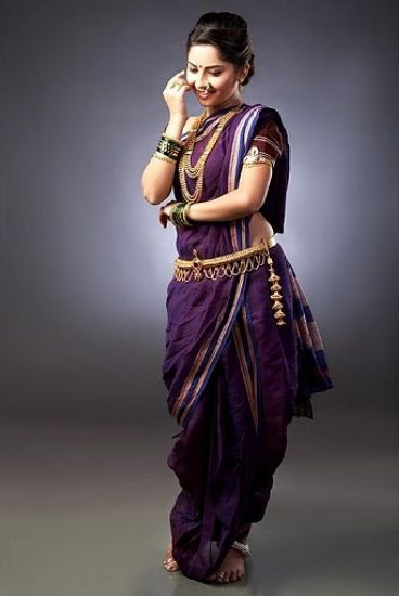 How to wear Marathi Saree