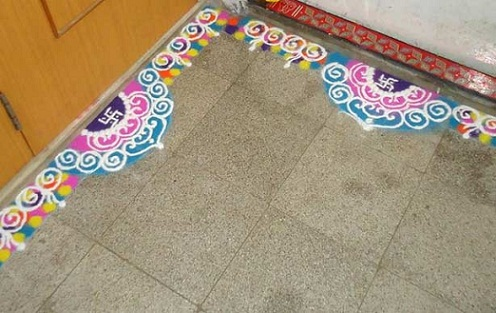 Latest Rangoli Designs-Border rangoli designs