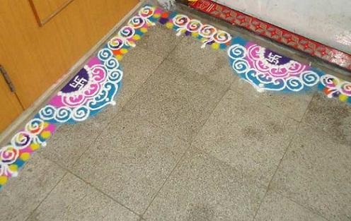 latest rangoli designs 14