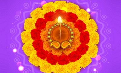 Latest Rangoli Designs-Flower Rangoli Designs