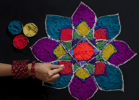 Latest Rangoli Designs-Pookalam rangoli designs