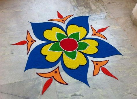 Latest Rangoli Designs-Simple Rangoli Design