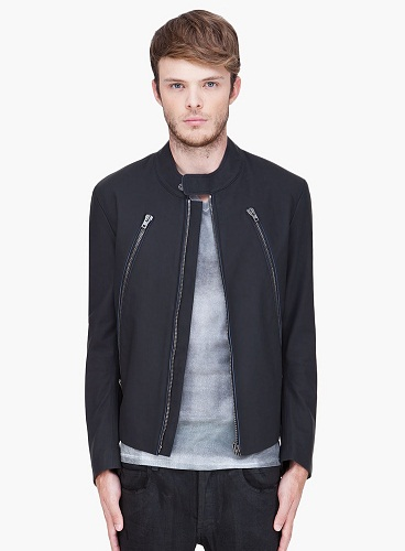 Maison Martin Margiela Black Matte Leather Jacket