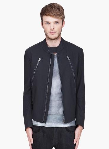 Maison Martin Margiela Black Matte Leather Jacket