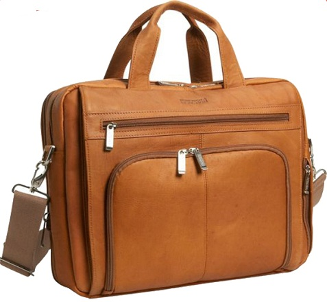 Multi-layer Leather Laptop Bag for Men
