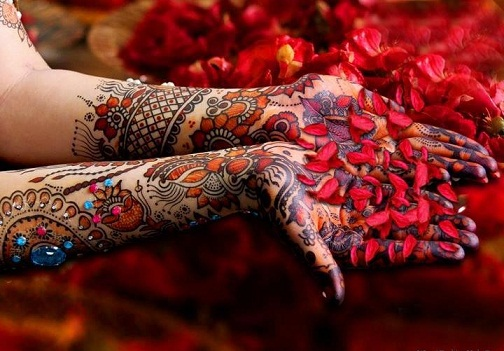 PARTY MEHNDI-Multi Coloured Mehendi DesignS