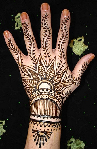 Quick Mehndi Patterns : Quick mehendi design makedes