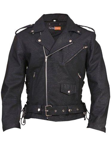 Ranger Black Biker Mens Leather Jacket