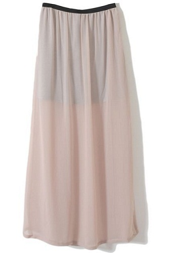 Semi Transparent Long Skirt
