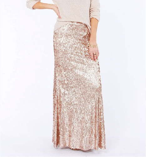 Sequined Long Skirts