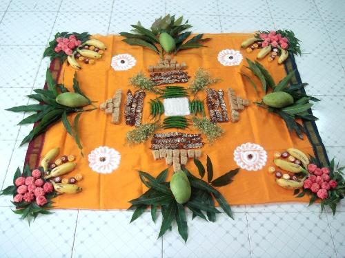Special Rangoli Designs Mango Leaf Rangoli