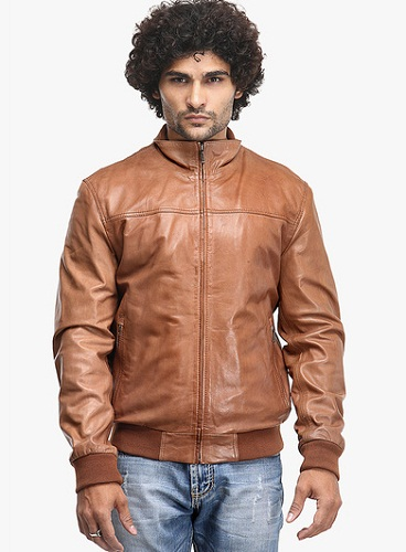 Teakwood Solid Brown Leather Jacket