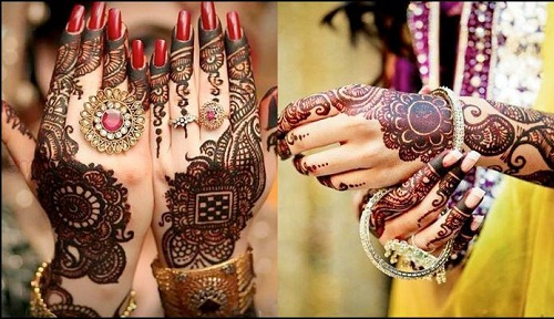 mehndi designs for karwa chauth