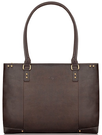 Vintage Leather Laptop Carry Bag for Women