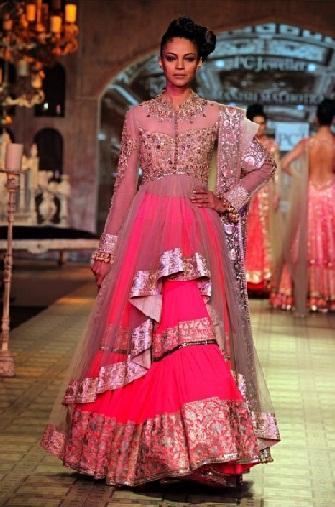 pink colour dress