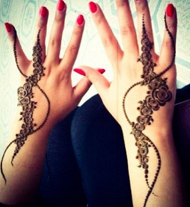 summer mehndi designs-rose designs
