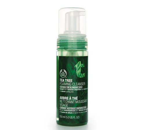 Acne Products for Pregnant Women - The Body Shop Tea Tree Foaming Cleanser