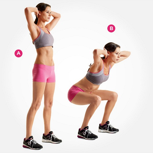 Exercises To Do During First Trimester - Body Weight Squat