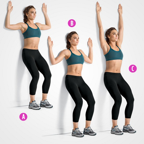 Exercises To Do During First Trimester - Wall Slide