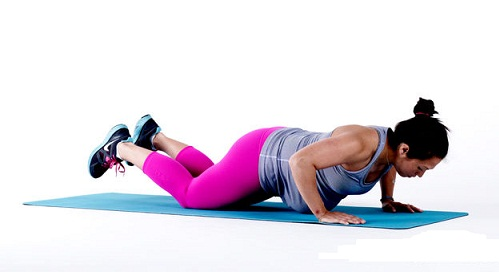 Exercises You Can Do During Third Trimester - KNEE PUSH UPS