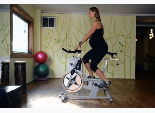 Exercises You Can Do During Third Trimester - STATIONARY BIKE WORKOUT