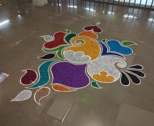Top 9 Floor Rangoli Designs Styles At Life