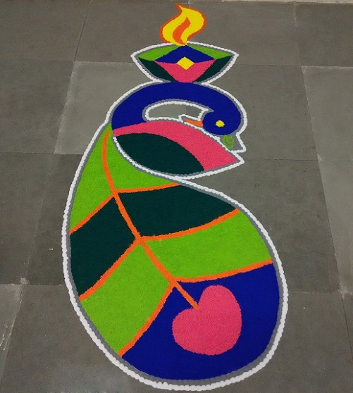Floor Rangoli Designs 3
