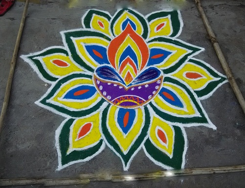 Floor Rangoli Designs 4