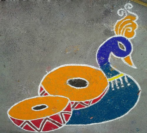 Floor Rangoli Designs 5