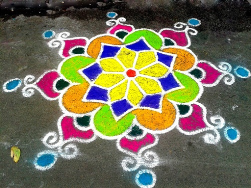 Floor Rangoli Designs 6