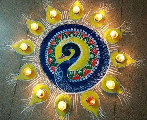 Floor Rangoli Designs 7