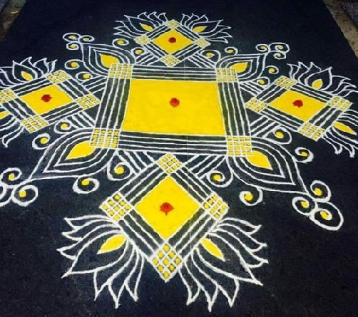 Floor Rangoli Designs 8