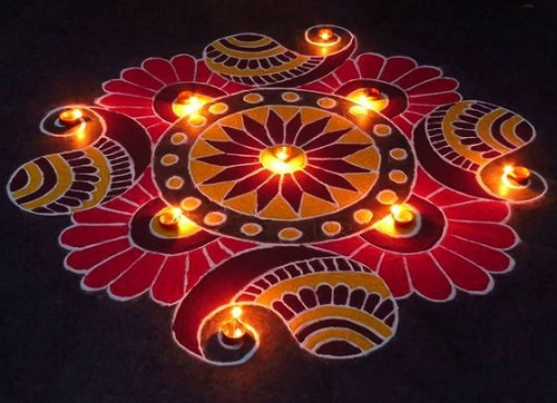 Floor Rangoli Designs 9