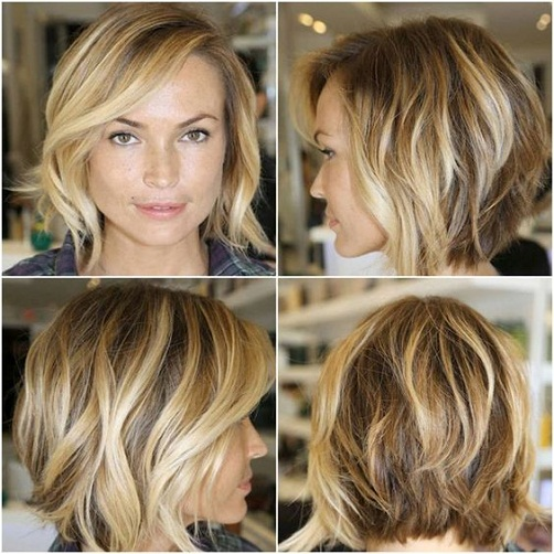 Hairstyles For Pregnant Woman - A Layered Bob