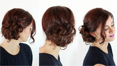 Hairstyles For Pregnant Woman - A Messy Side Bun