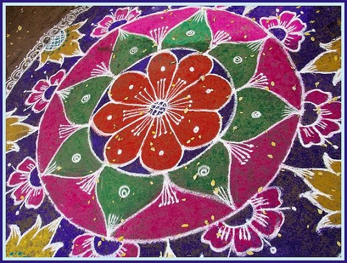 Hindu Rangoli Designs - The Detailed Rangoli Design