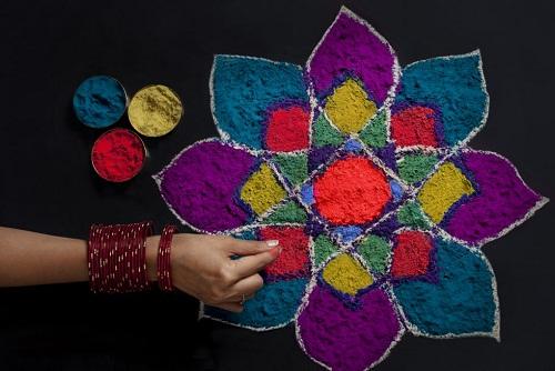 Hindu Rangoli Designs - The Floral Rangoli
